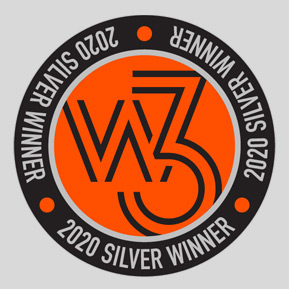 2020 Silver Winner, w3 Awards