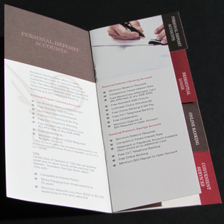 Banking Services Brochure, Design for Print